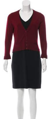Paule Ka Overlay Sweater Dress