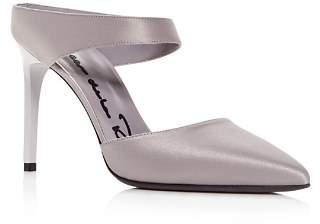 Oscar de la Renta Women's Pointed Toe High-Heel Mules