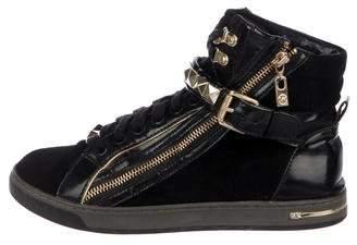 Michael Kors Suede High-Top Sneakers