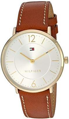 Tommy Hilfiger Men's 'Sophisticated Sport' Quartz Gold-Tone and Leather Casual Watch