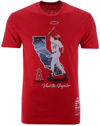 Mitchell & Ness Men's Vladimir Guerrero Los Angeles Angels Hall Of Fame Signature T-Shirt