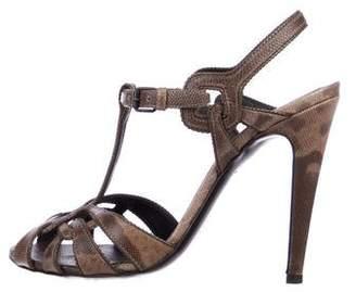 Bottega Veneta Karung T-Strap Sandals