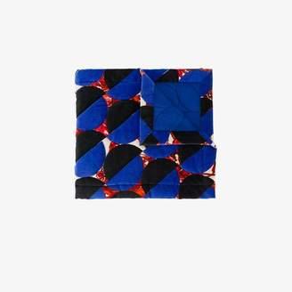 Dries Van Noten floral circle print quilted scarf