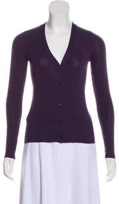 Prada Long Sleeve Cashmere Cardigan