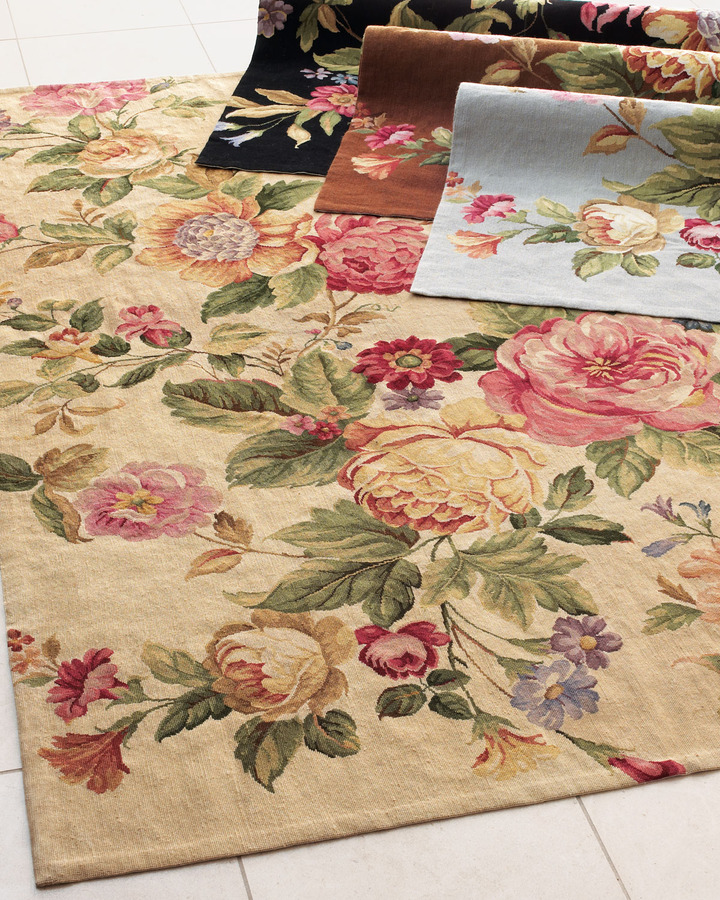 """Horchow """"Waterfall Rose"""" Runner, 2'6"""" x 10'"""