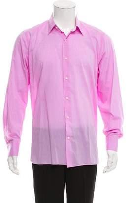 Belvest Point Collar Button-Up Shirt