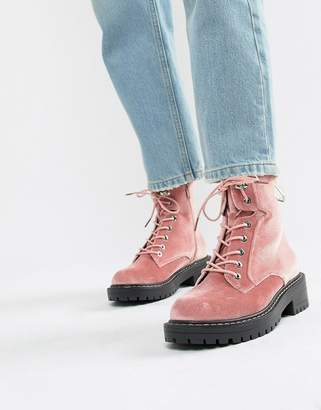 Blink Chunky Hiker Ankle Boots