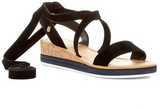 Tommy Hilfiger Parker Strappy Wedge Sandal $79 thestylecure.com