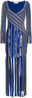 Peter Pilotto Fringe Jacquard Midi-Dress