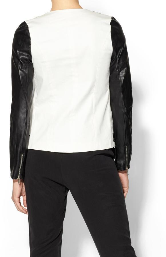 See by Chloe Sabine Embroidered Vegan Leather Sleeve Jacket
