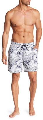 Tailor Vintage Banana Leaves Print Swim Volley Trunks