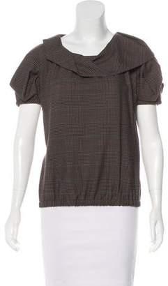 Louis Vuitton Wool Plaid Top