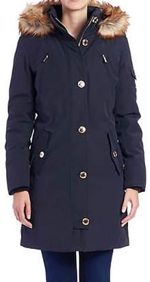 MICHAEL Michael Kors Women's Down Parka w/ Faux Fur Trim Outerwear XS