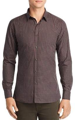 HUGO Elisha Grid Extra Slim Fit Button-Down Shirt