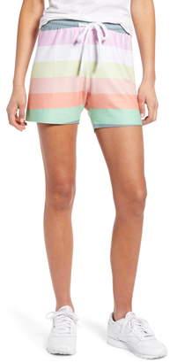 Wildfox Couture Carter Rainbow Stripe Drawstring Shorts