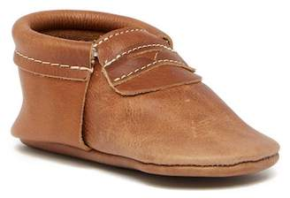 First Steps Leather Penny Loafer Moccasin (Baby & Toddler)