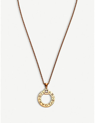 bc96d00bc Bvlgari 18kt pink-gold and diamond necklace