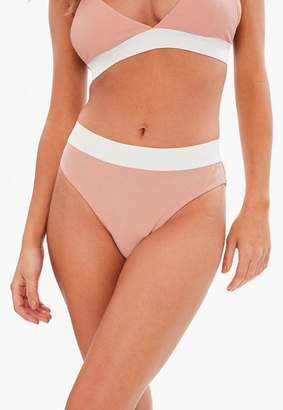 Missguided Nude Jersey High Waisted Panties