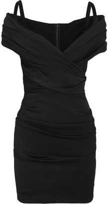 Dolce & Gabbana - Ruched Off-the-shoulder Stretch-jersey Mini Dress - Black $2,395 thestylecure.com