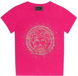 Versace Kids Embellished stretch-cotton T-shirt