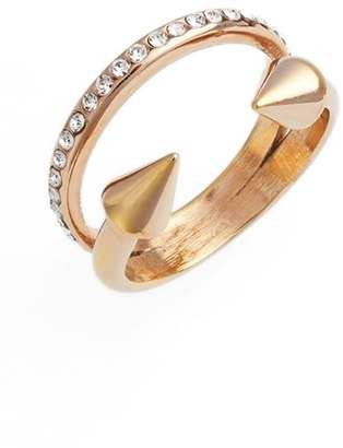 Women's Vita Fede Ultra Mini Titan Crystal Band Ring $275 thestylecure.com