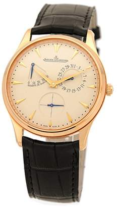 "Jaeger-LeCoultre Master Ultra Thin Reserve De Marche"" 18K Rose Gold Mens Strap Watch"
