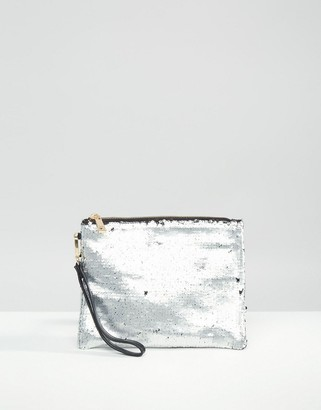 Oasis Sequin Clutch Bag $28 thestylecure.com