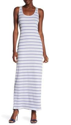 Loveappella Striped Racerback Maxi Dress