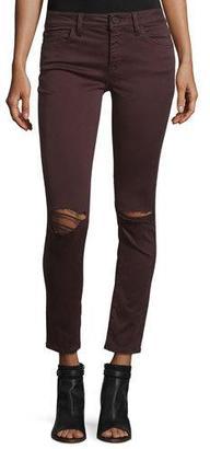DL1961 Premium Denim Margaux Ripped Skinny Ankle Jeans, Malbec $188 thestylecure.com
