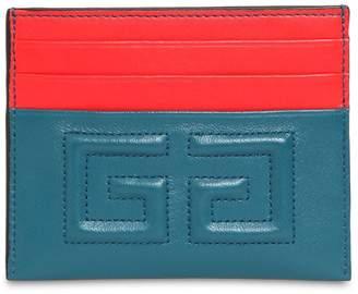 Givenchy Emblem Leather Card Holder