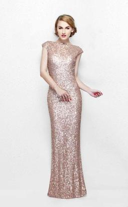 Primavera Couture - Ultra Sparkling Plunging Back Long Sequin Sheath Dress 1256 $249 thestylecure.com