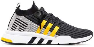 adidas Black And Yellow EQT Support Mid Adv Primeknit Sneakers
