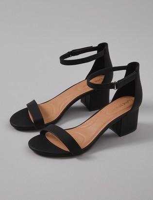 Lane Bryant Short Ankle Strap Block Heel Sandal