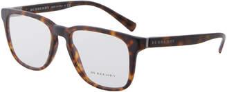 Burberry BE2239 Matte Tortoiseshell-Look Square Optical Frames