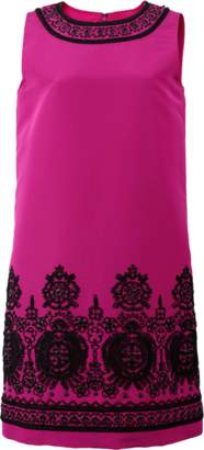 Oscar de la Renta Faille Embroidered Dress
