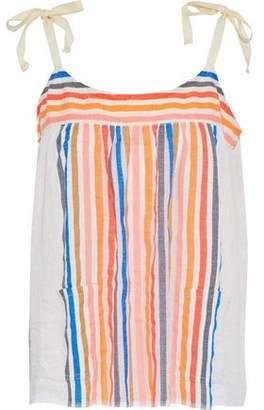 Lemlem Candace Striped Cotton-Blend Gauze Top