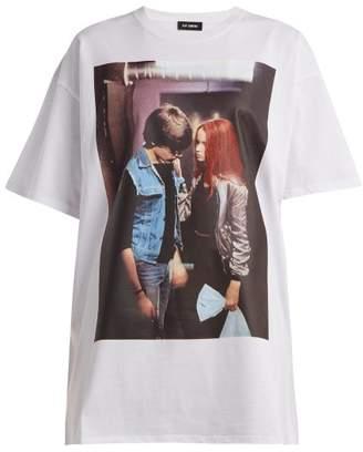 Raf Simons Christiane F. Film Grab Print T Shirt - Womens - White Print