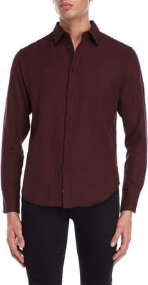 Rag & Bone Burgundy Fit 2 Base Shirt