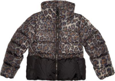 Moncler Leopard Print Puffer Coat