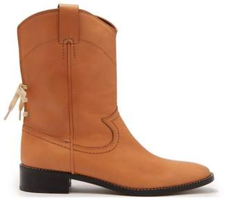 See By Chloé - Western Leather Boots - Womens - Light Tan