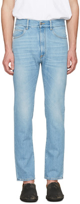 Maison Margiela Indigo High-Waisted Washed Jeans $575 thestylecure.com