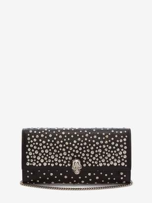 Alexander McQueen Continental Skull Leather Wallet