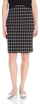 Paris Sunday Women's Windowpane Check Pencil Skirt