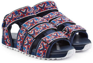 White Mountaineering Embroidered Sandals