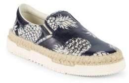 Valentino Graphic Leather Espadrilles
