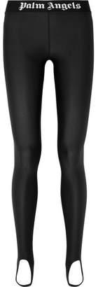 Palm Angels Stretch-jersey Stirrup Leggings - Black
