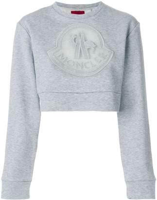 Moncler cropped logo sweatshirt