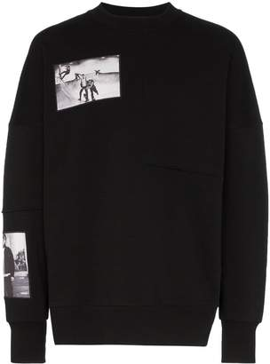 Tony Hawk Signature Line X Corbijn Graphic Prints Crew Neck Cotton Sweatshirt
