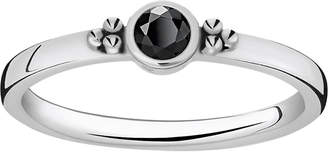 Thomas Sabo Royalty black stone sterling silver stacking ring