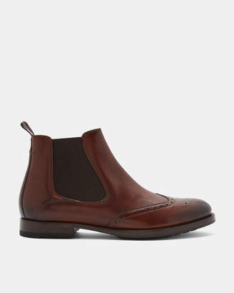 Ted Baker CAMHERI Wing cap leather brogue Chelsea boots